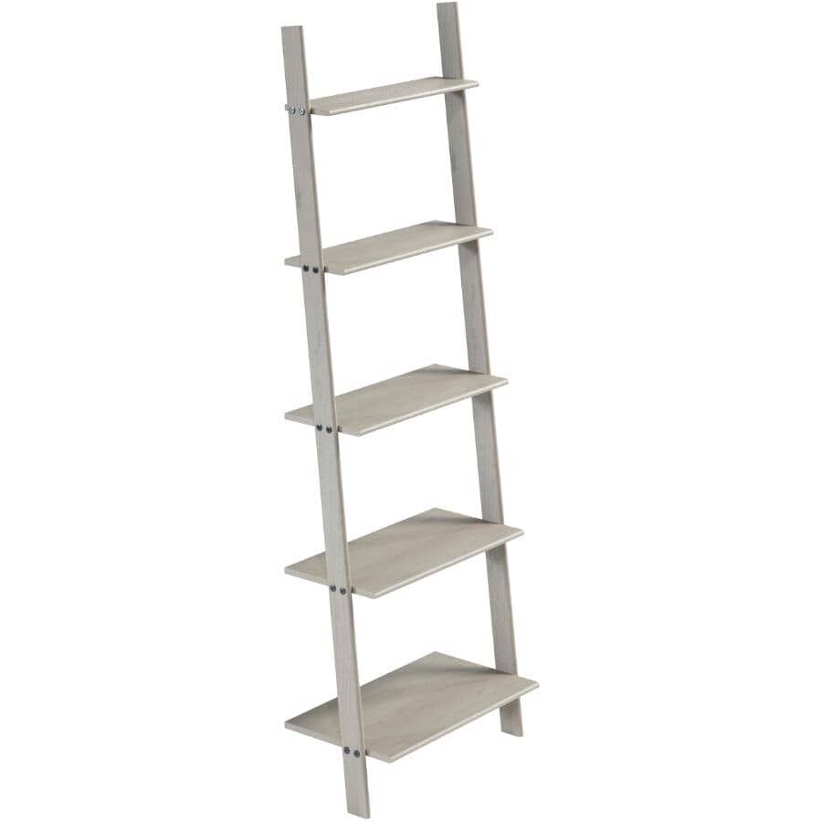 GATEWAY CREATIONS:Ladder Wall Unit - with 5 Shelves + Grey