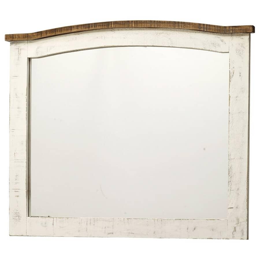 """IFD INTERNATIONAL FURNITURE DIRECT:46 x 38"""" White Pueblo Dresser Mirror"""
