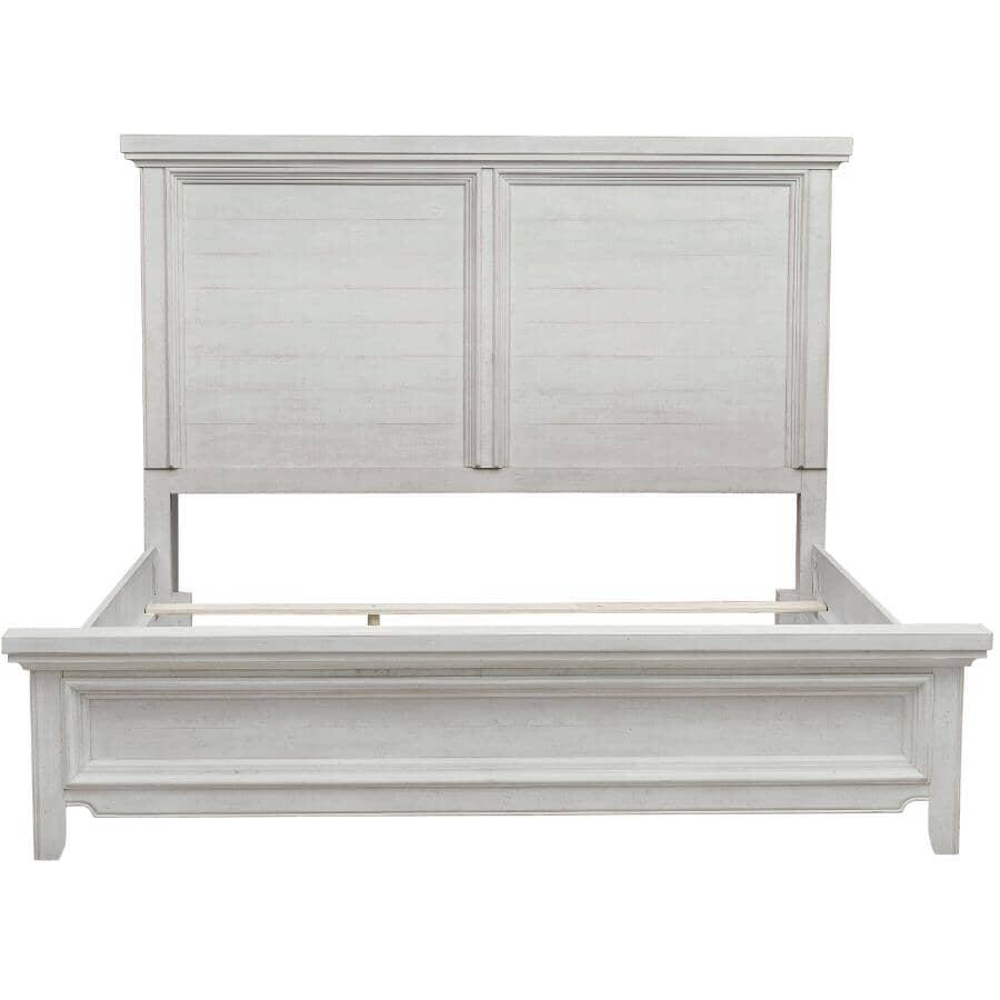 SAMUEL LAWRENCE FURNITURE:Hampton King Bed - Antique White