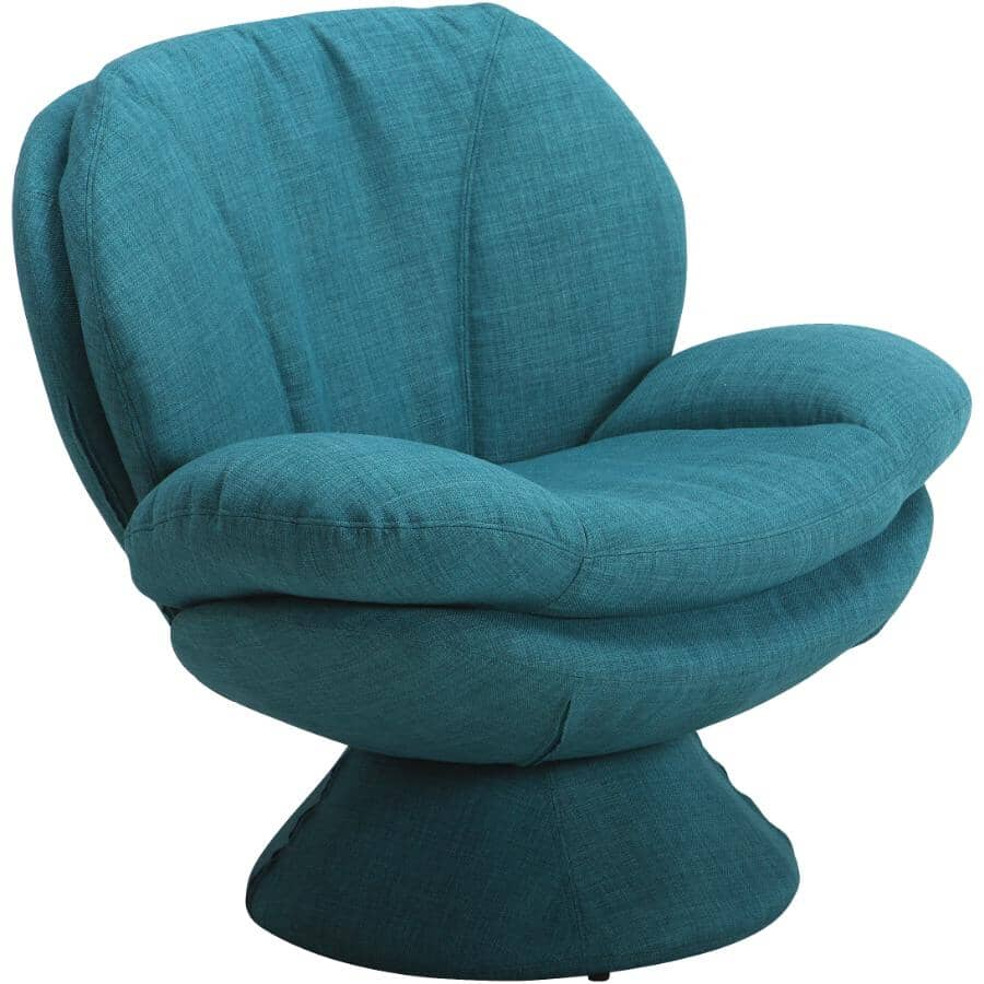 COMFORT CHAIR:Rio Turquoise Pub Accent Swivel Chair