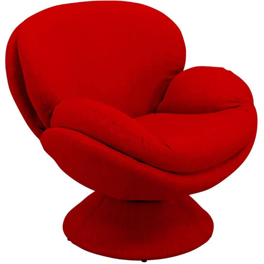 COMFORT CHAIR:Rio Red Pub Accent Swivel Chair