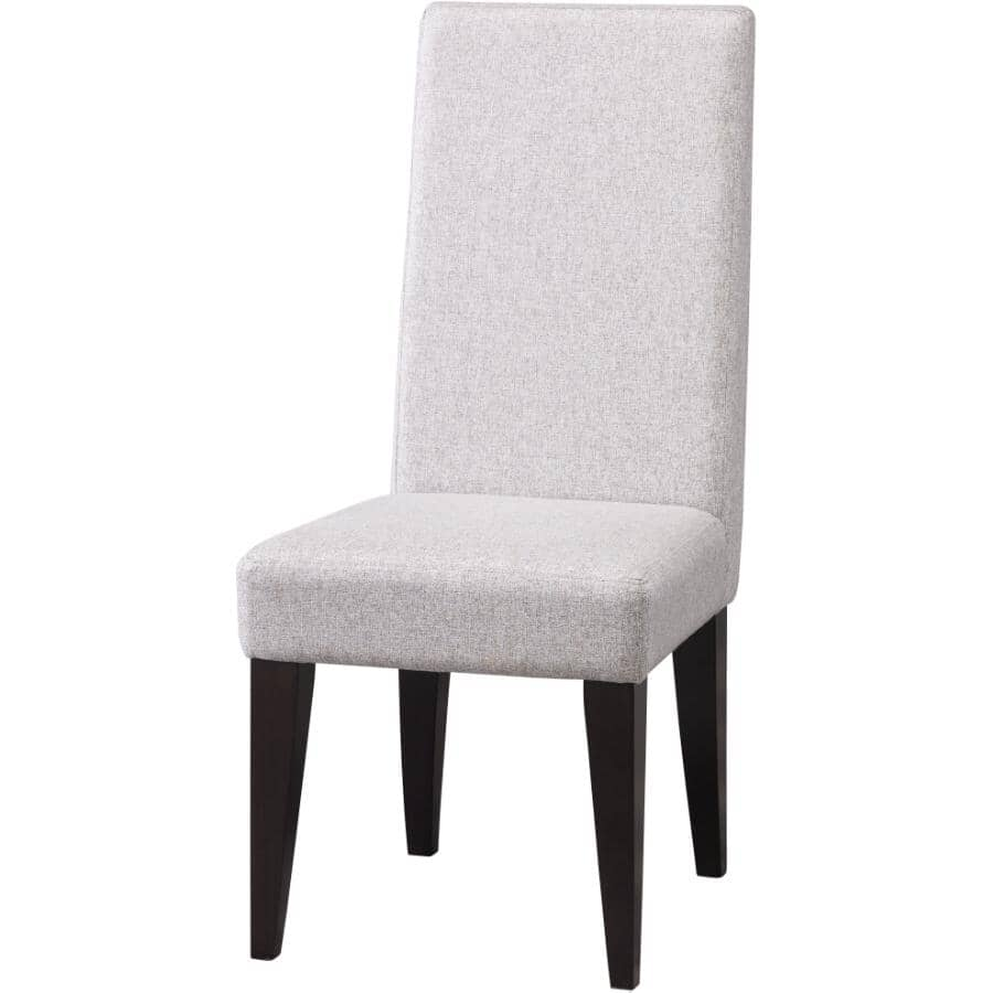 CANADEL:Parsons Wood Side Chair, with Upholstered Seat and Back and Peppercorn Legs