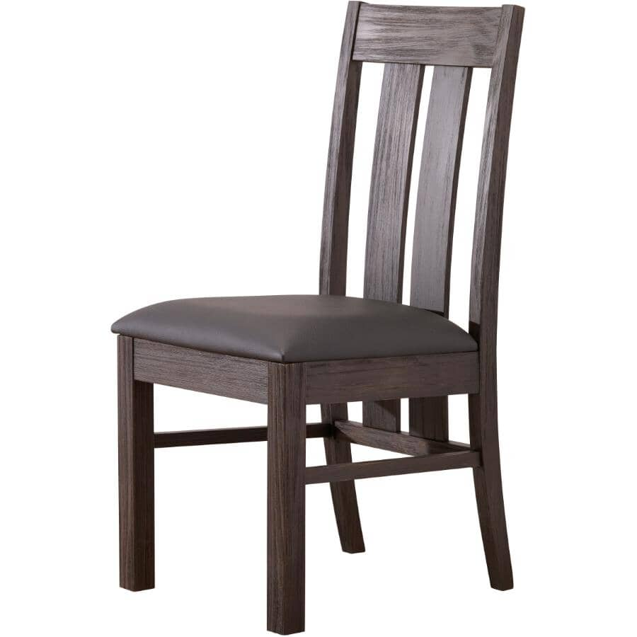 MAKO:Forest Black Adam Wood Side Chair, with Upholstered Seat
