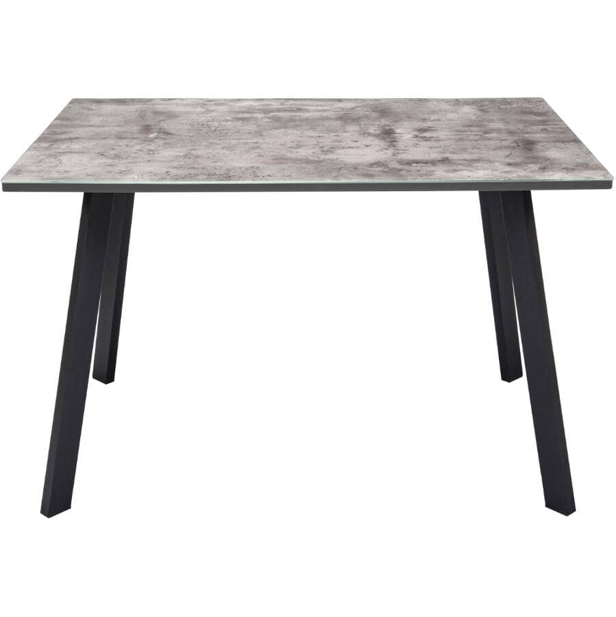 MAZIN FURNITURE:Lisbon Dining Table - Grey