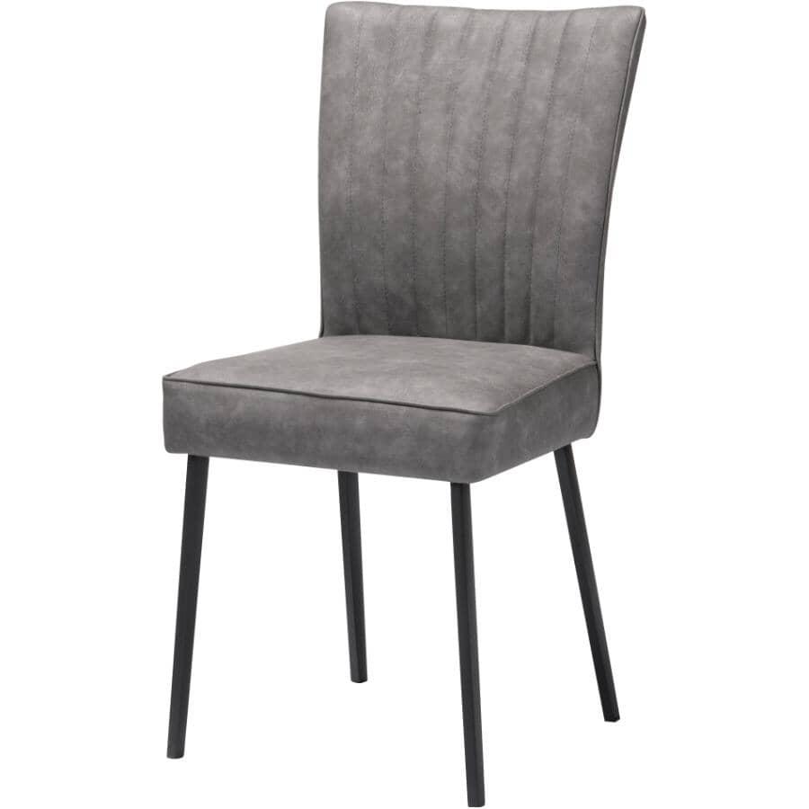 MAZIN FURNITURE:Lisbon Side Chair - Grey
