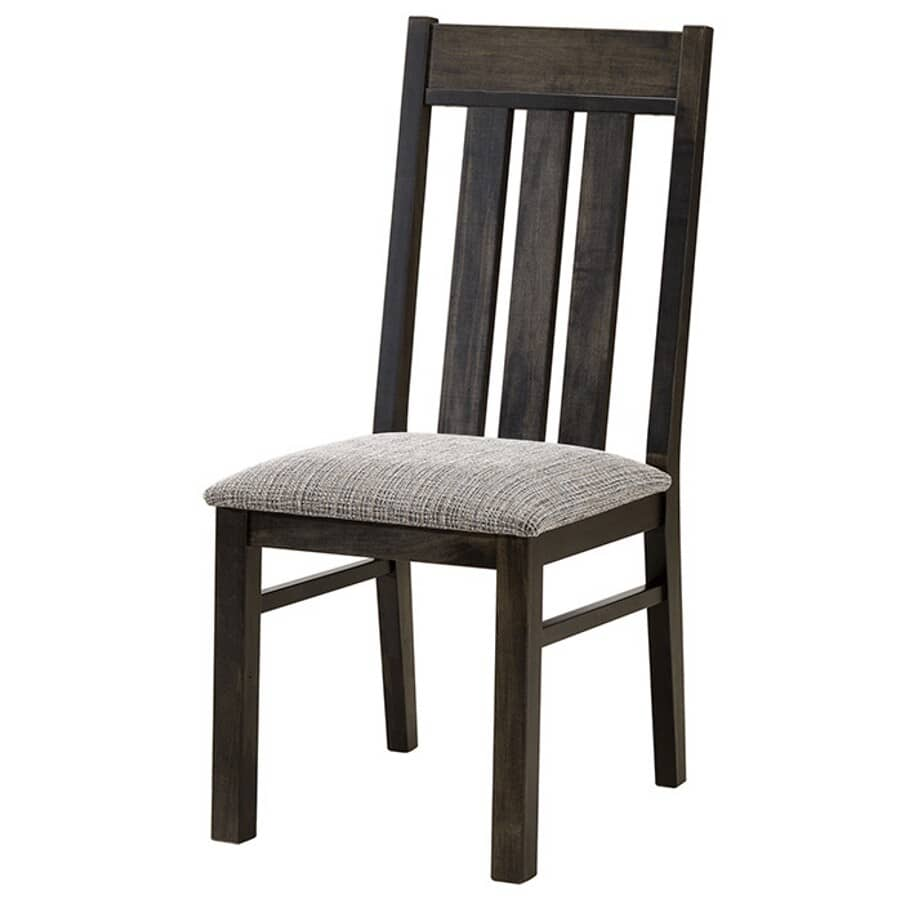 BENCHWAY:Graphite Mattawa Wood Side Chair, with Upholstered Seat