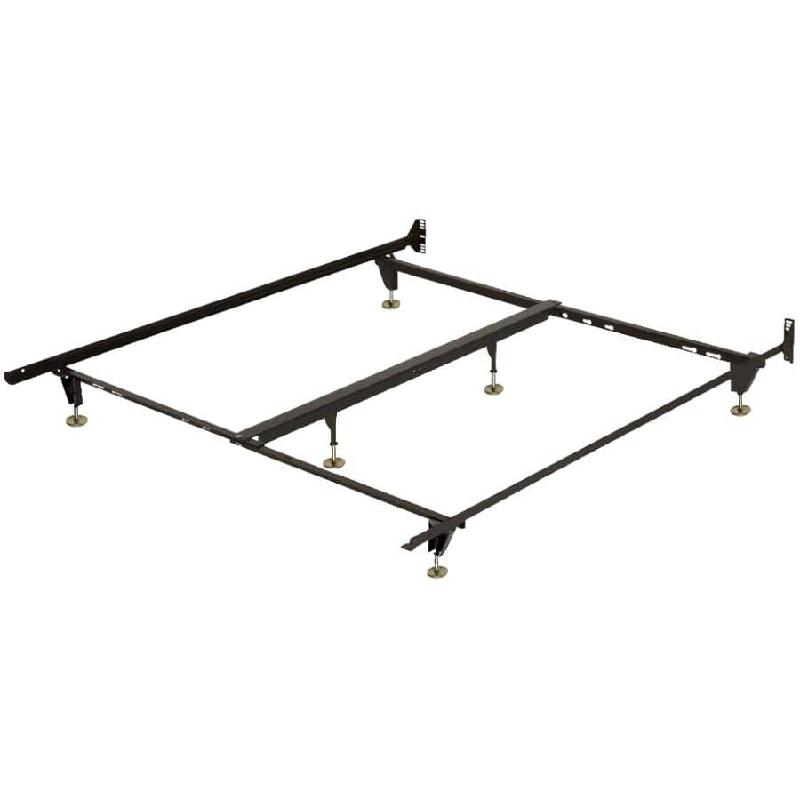 """BEAUDOIN:54"""" to 78"""" Brown Bed Frame"""