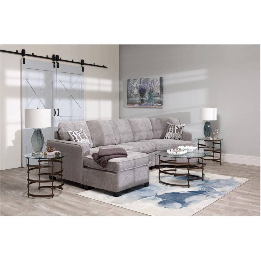 PAIANO:2 Piece Grey Euphoria Sofa Sectional