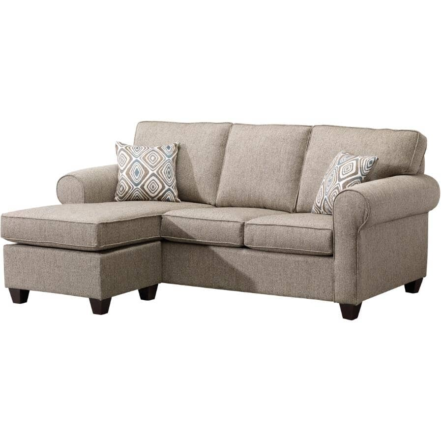 PAIANO:Brown Byron Sofa, with Ottoman