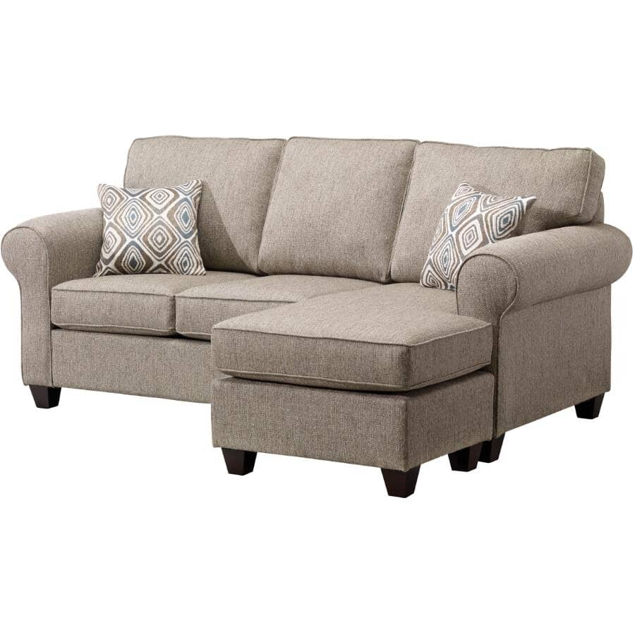 PAIANO:Brown Byron Sofabed, with ottoman