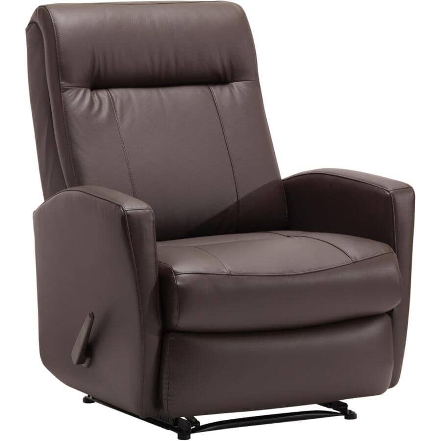 BEST HOME FURNISHINGS:Costilla Chocolate Leather Match Recliner