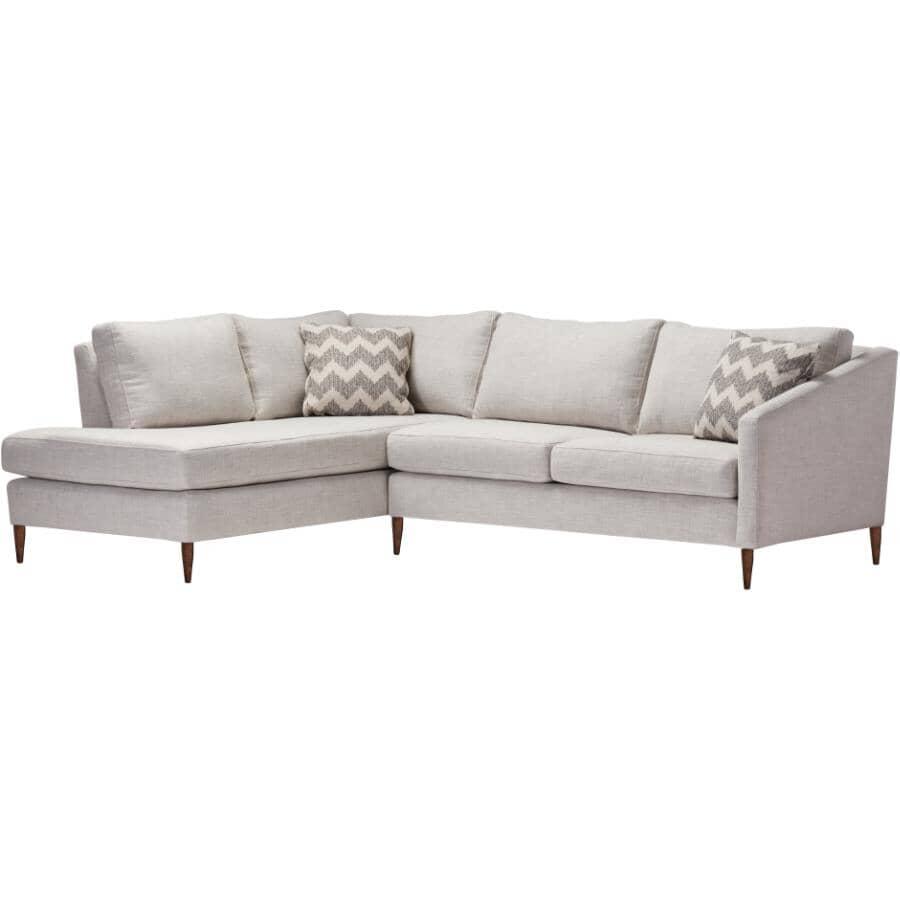 STYLUS:Wilson 2 Piece Sectional Sofa - Aiden Platinum