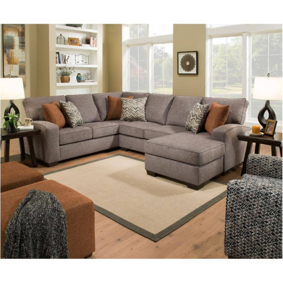 LANE:Sectional Sofa - with Chaise, Endurance Shadow