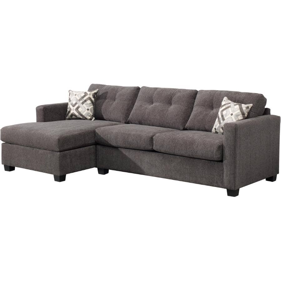 PAIANO:2 Piece Graphite Easy Living Sofabed Sectional