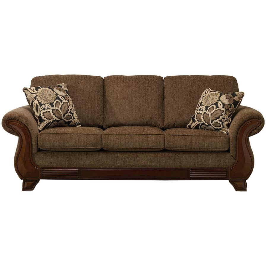 PAIANO:Khaki Brown Simplicity Sofa