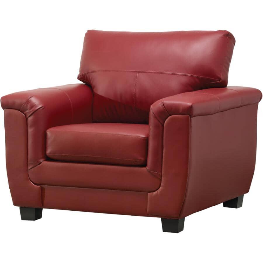 AMAN FURNITURE:Madras Crimson Leather Match Chair