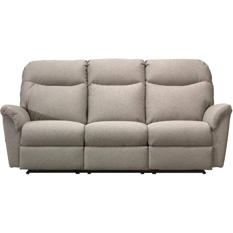 BEST HOME FURNISHINGS:Caitlin Space Saver Recliner Sofa - Silver