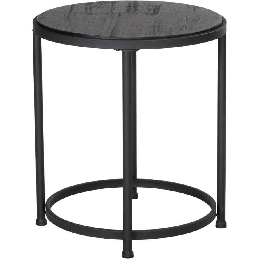 RUSTIQUE:Grey Round End Table