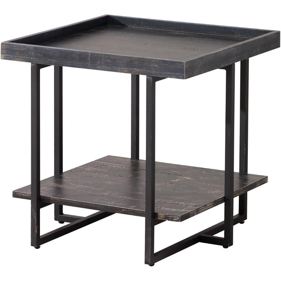 MAZIN FURNITURE:Arlington End Table - Black