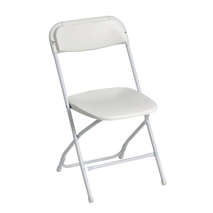 HOME:White Plastic Folding Chair