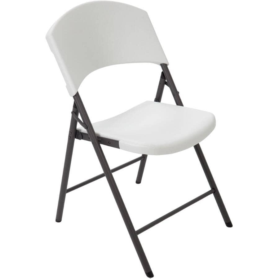 LIFETIME:White Commercial Plastic Folding Chair
