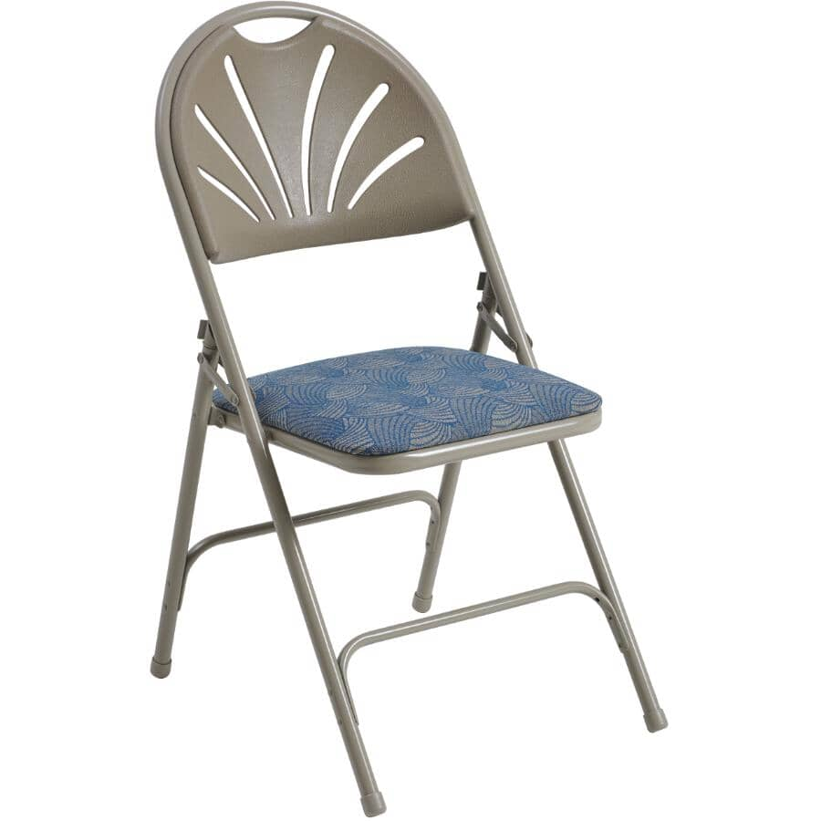 HOME:Taupe Padded Folding Chair