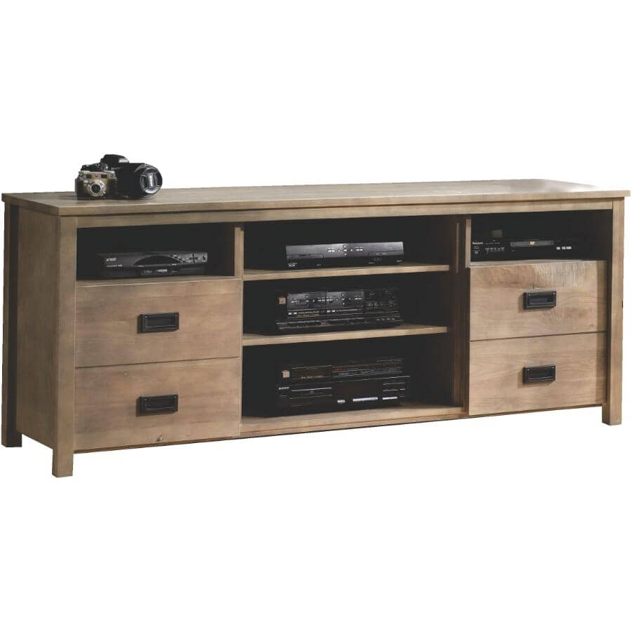 """MEUBLES ARBOIT-POITRAS:71"""" Ranch TV Stand - Weathered Grey"""