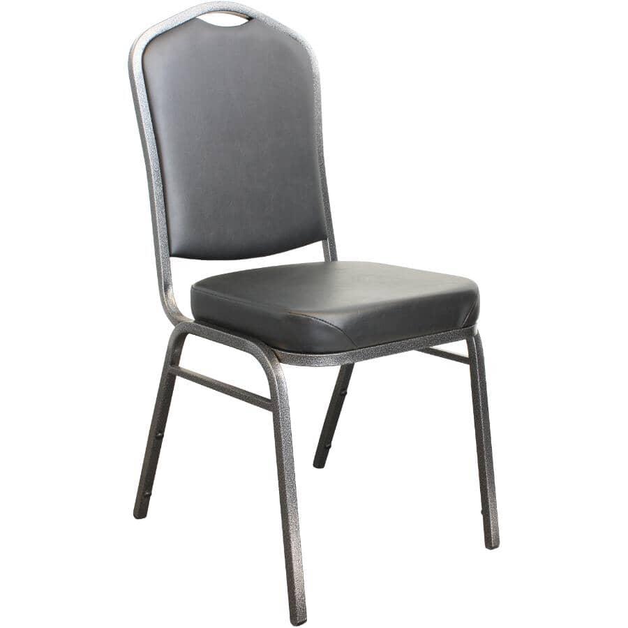 CANERGO:Black Vinyl Stacking Chair