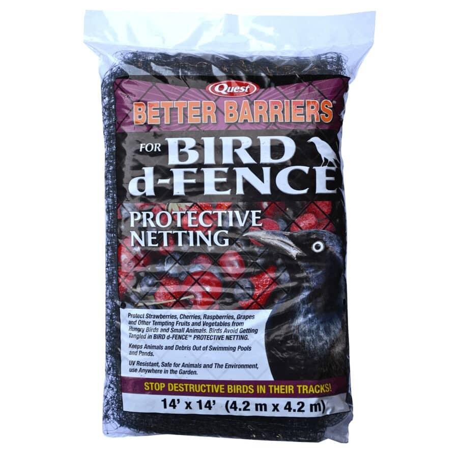 "QUEST BRANDS:5/8"" x 14' x 14' Black Bird Netting"