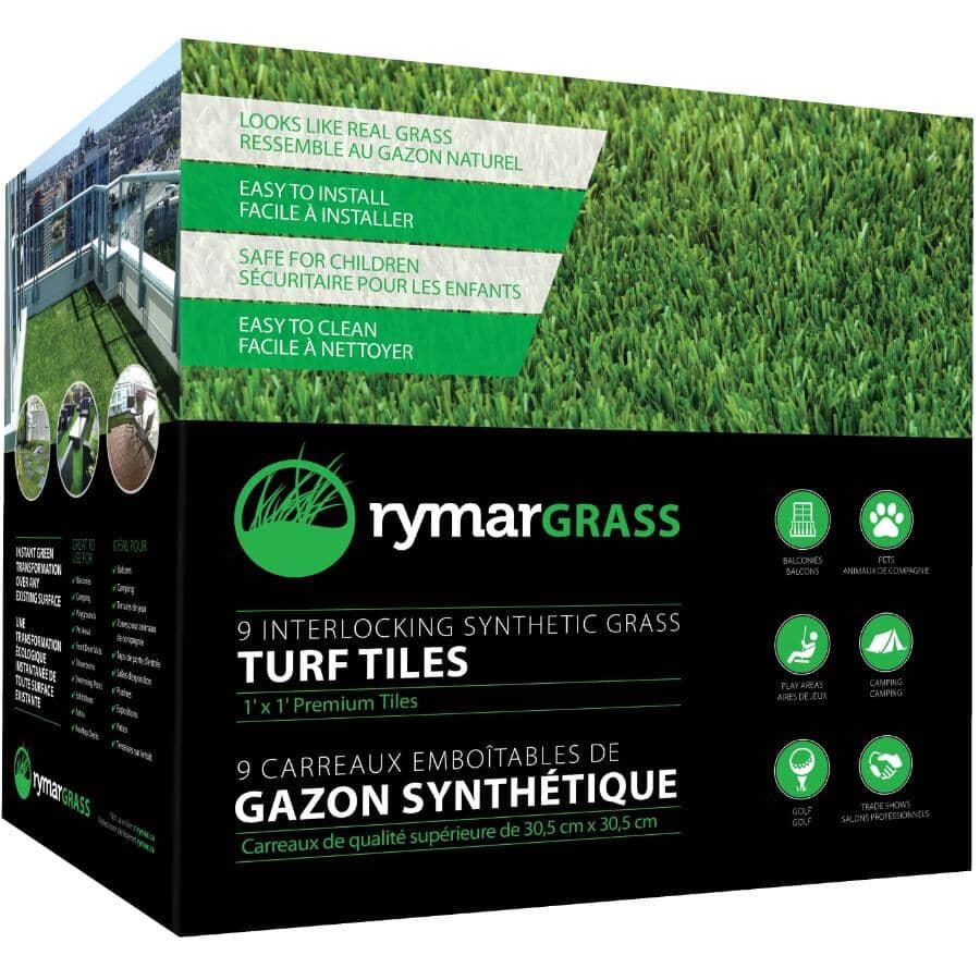 RYMARGRASS:9 sq. ft. Artificial Turf Tiles