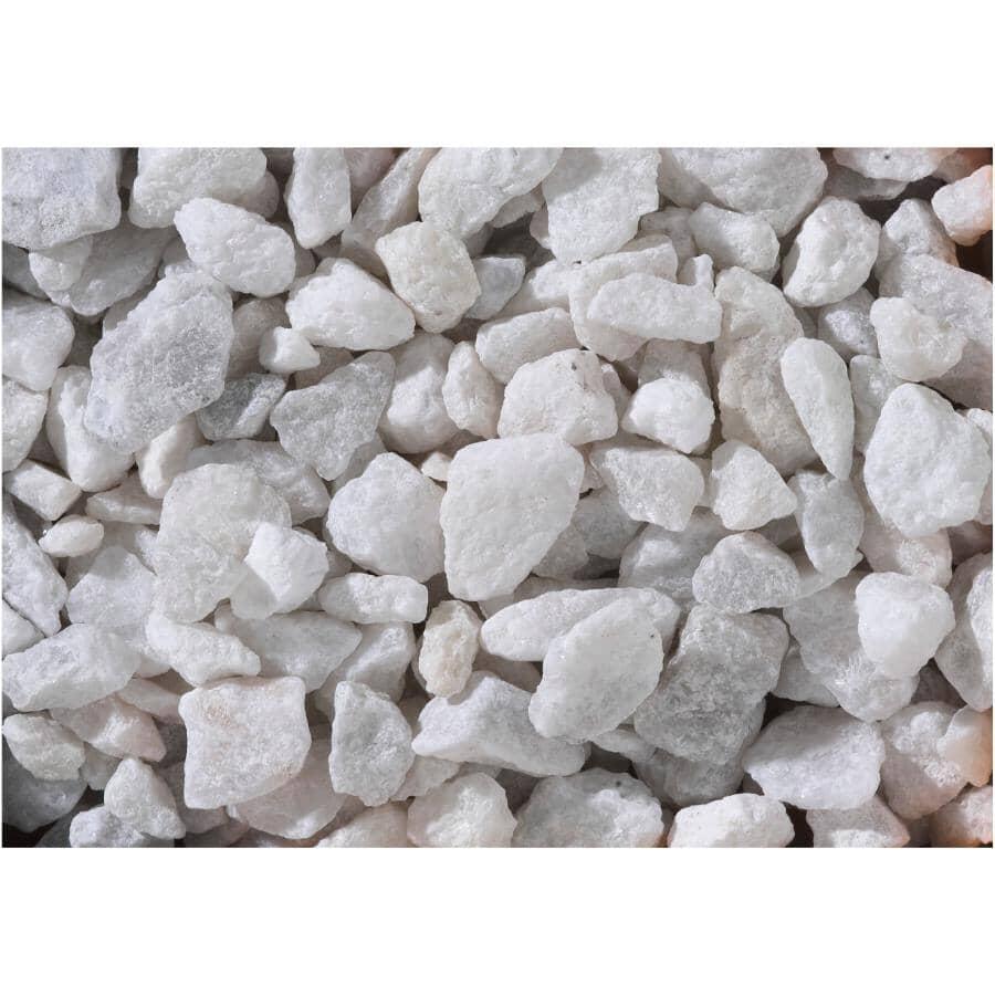 ALL TREAT FARMS:Pierres de marbre blanc de 1/2 po à 3/4 po pour jardin, 18 kg