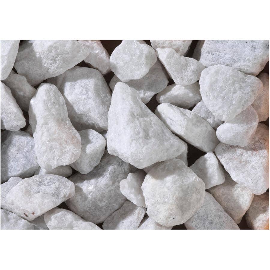 ALL TREAT FARMS:Pierres de marbre blanc de 3/4 po à 1-1/2 po pour jardin, 18 kg