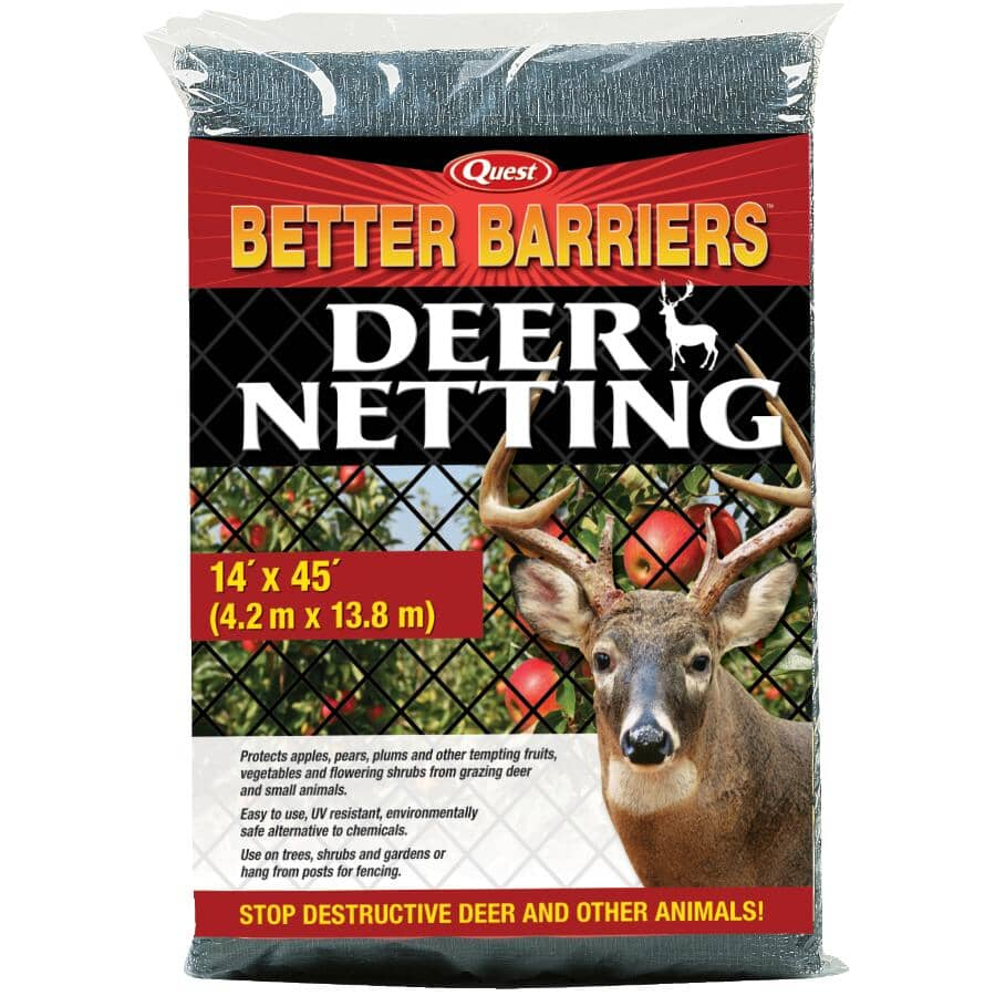 """QUEST BRANDS:5/8"""" x 14' x 45' Black Deer Netting"""