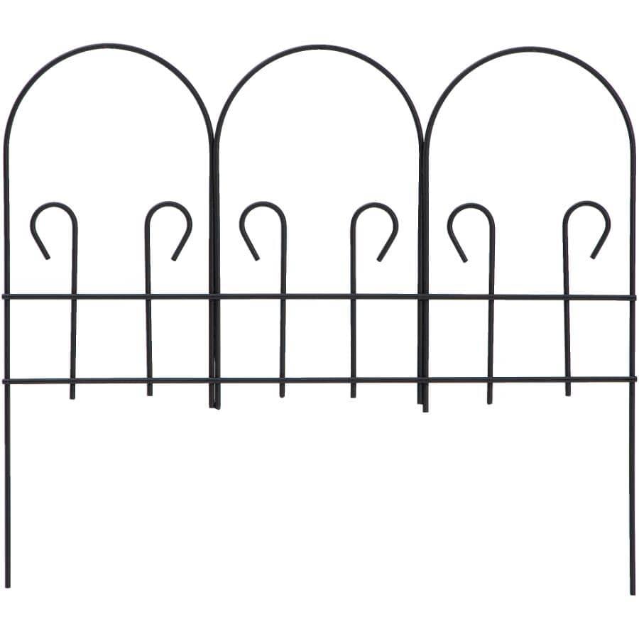 """WIRECRAFT:25"""" x 30"""" Black Wire Garden Fencing"""