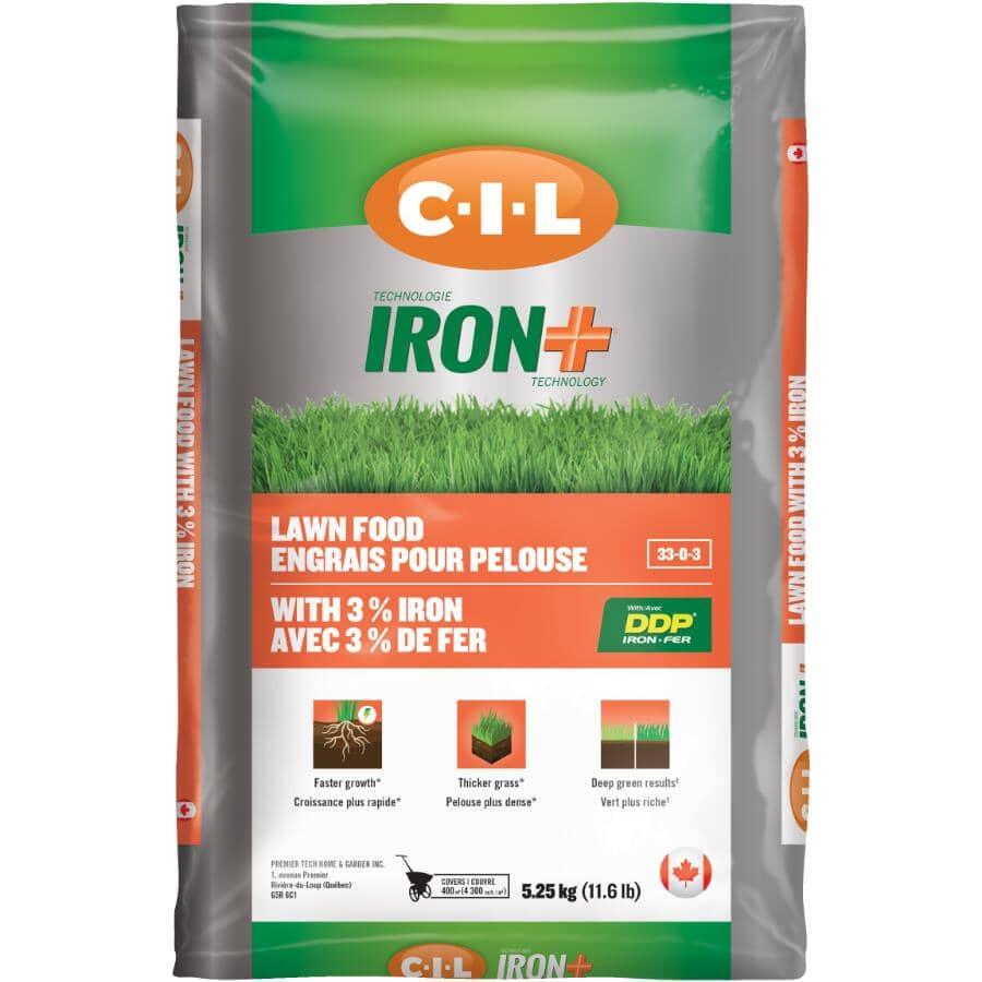 C-I-L:5.25kg 33-0-3 Iron+ Lawn Fertilizer