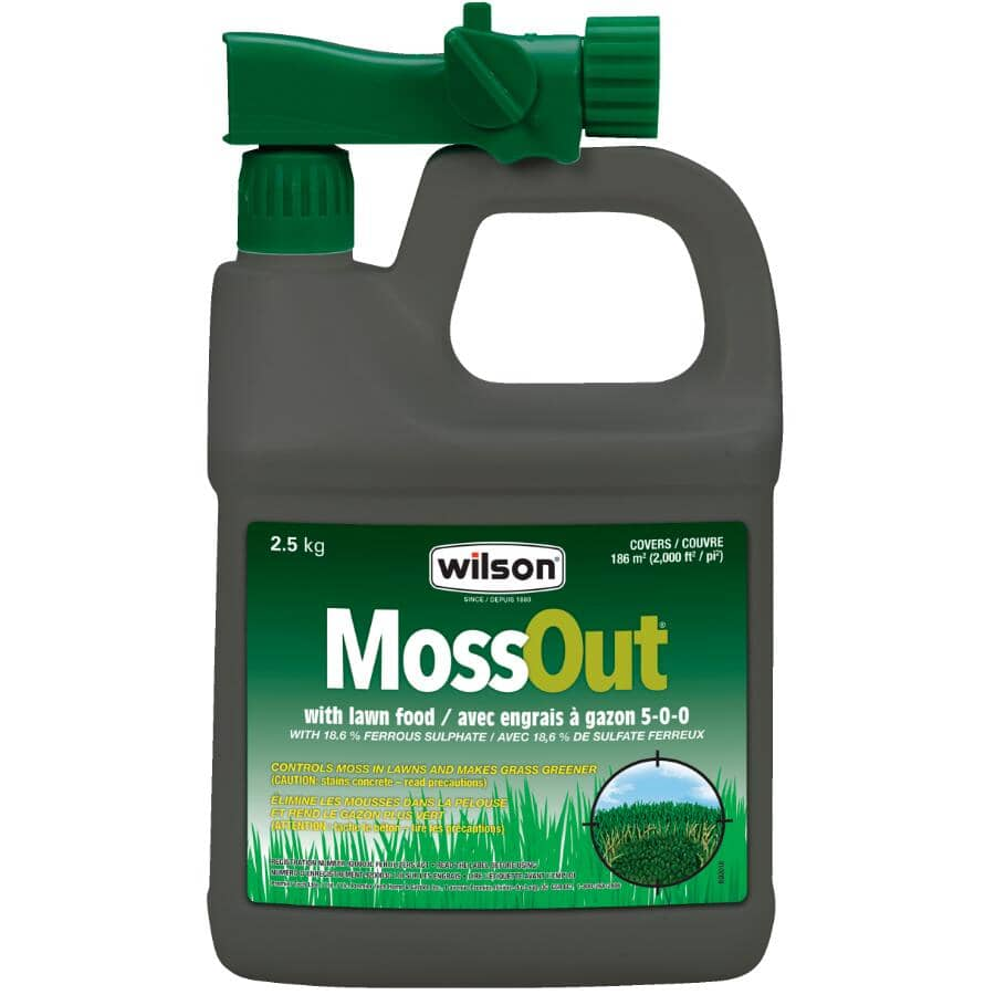 WILSON:MossOut Moss Control - with Lawn Food, 2 L