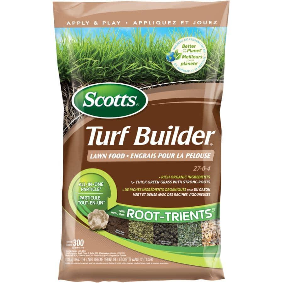SCOTTS:27-0-4 Turf Builder Lawn Fertilizer, covers 300 square meters