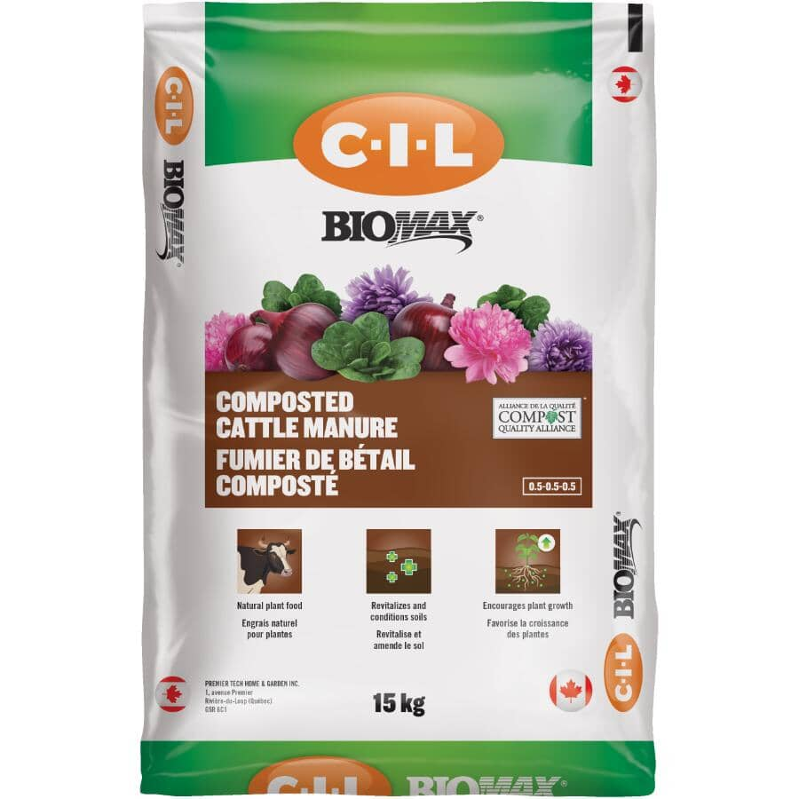 C-I-L:BioMax Composted Cow Manure - 15 kg