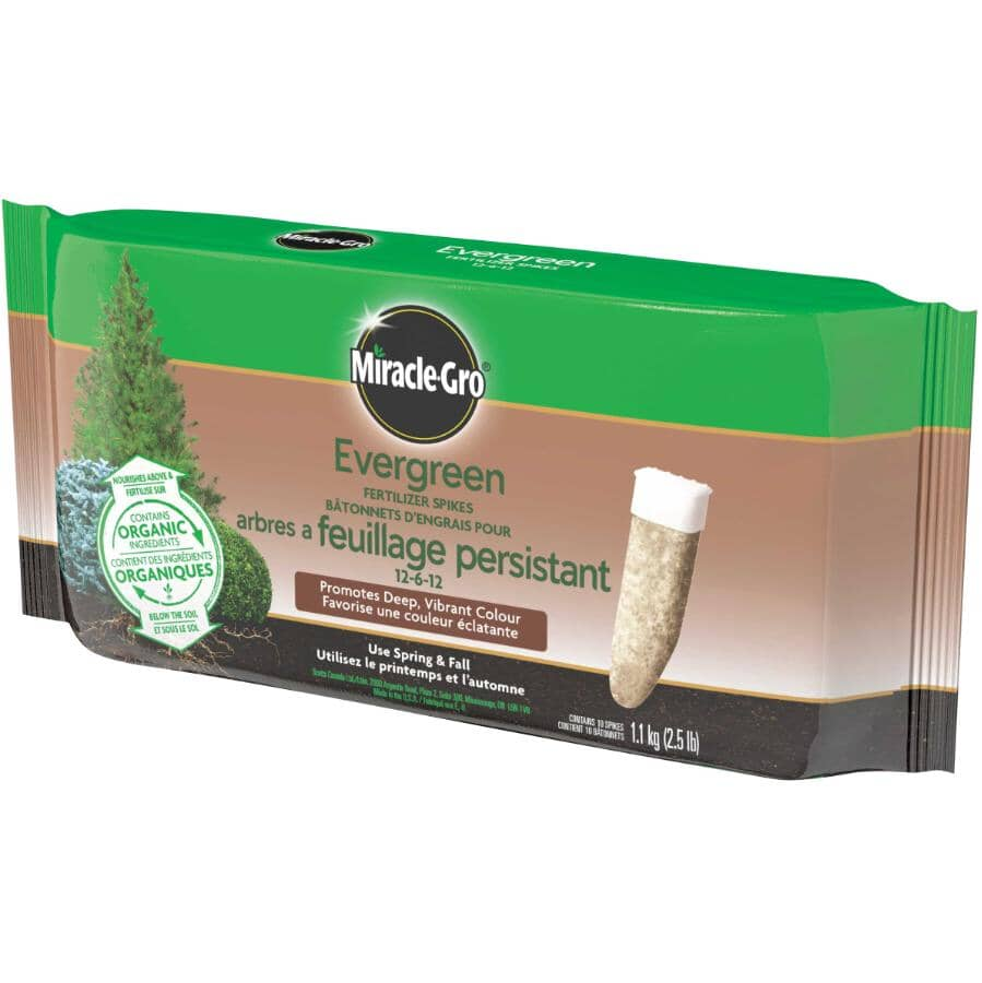 MIRACLE-GRO:10 Pack 12-6-12 Evergreen Fertilizer Spikes