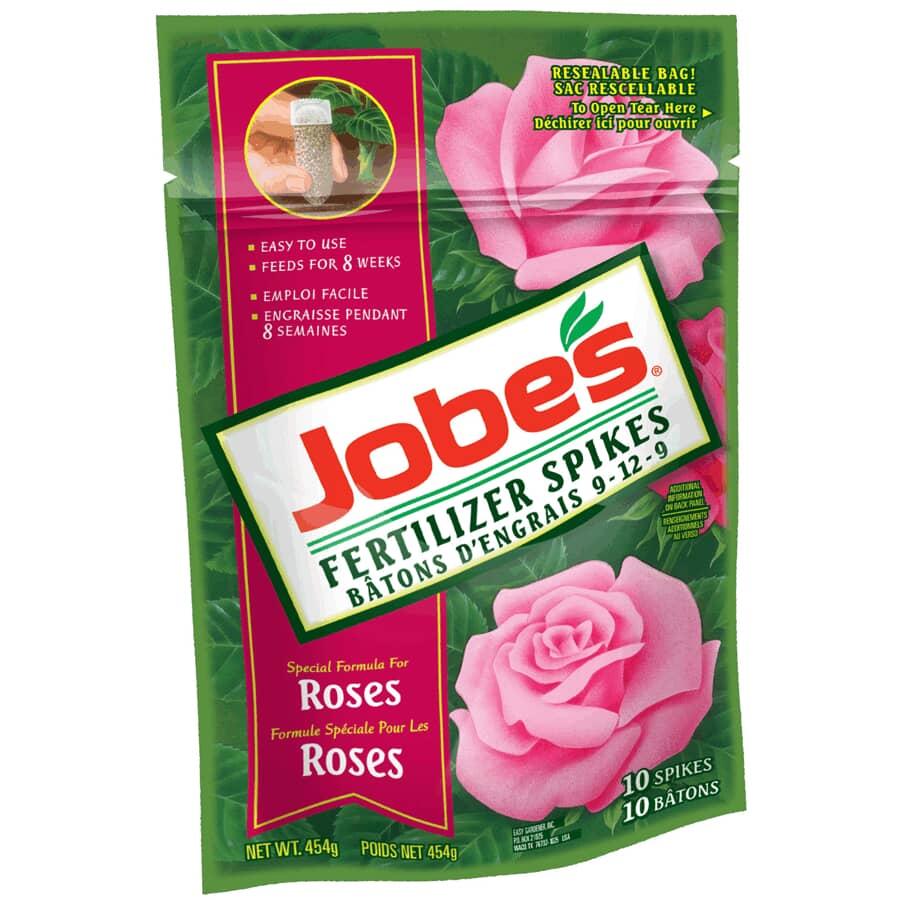 JOBE'S:10 Pack Rose Fertilizer Spikes
