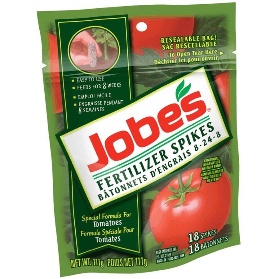 JOBE'S:Paquet de 18 bâtonnets d'engrais pour tomates