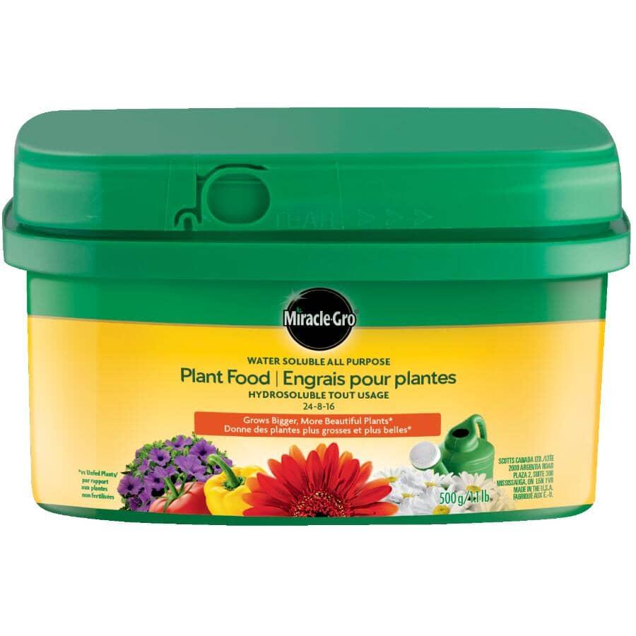 MIRACLE-GRO:Engrais tout usage 24-8-16 hydrosoluble pour plantes, 500 g