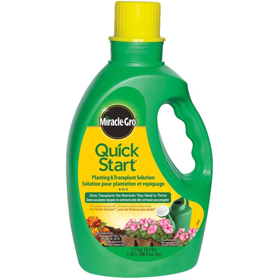 MIRACLE-GRO:Quick Start - Planting & Transplant Solution 4-12-4, 1.42 L