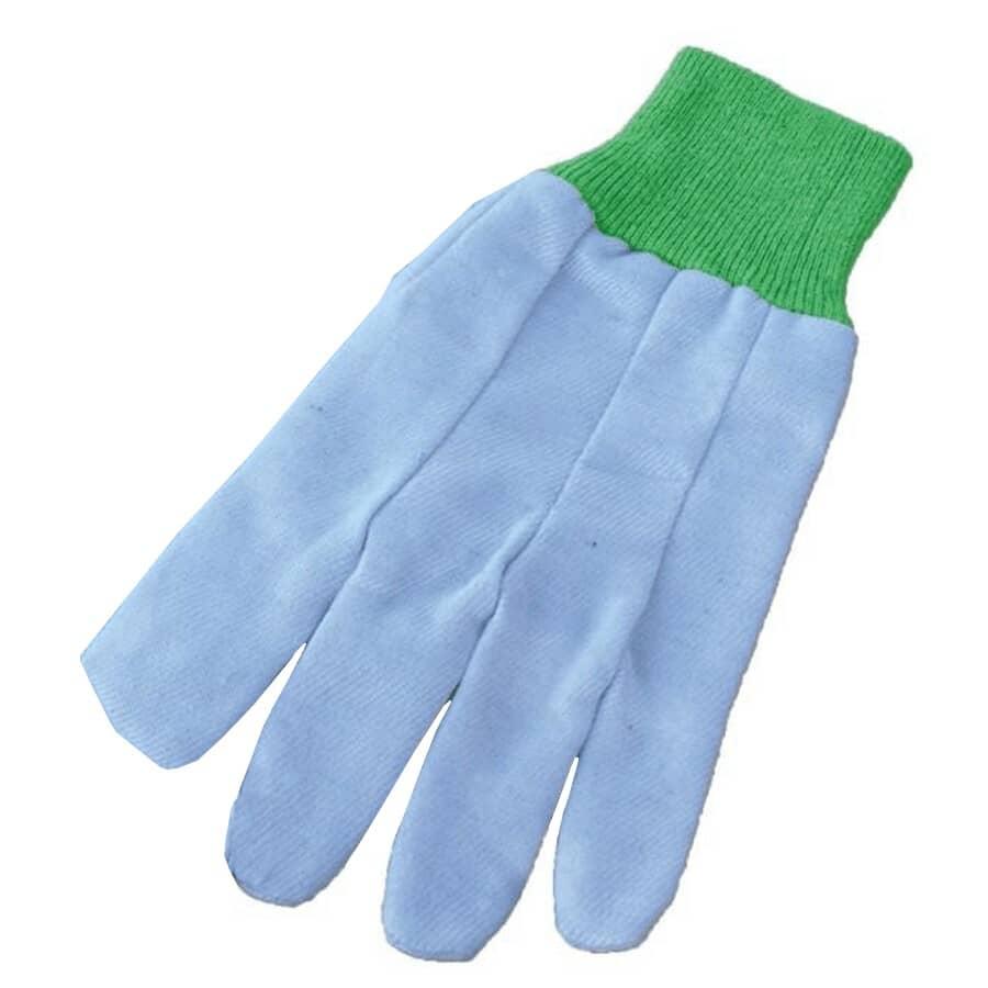BOSS:Ladies 8 oz Cotton Garden Gloves - with Knit Wrist