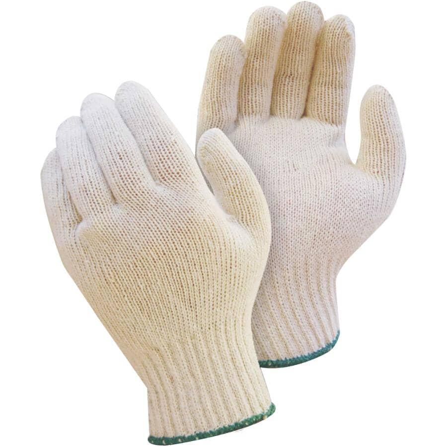 WORKHORSE:Men's Polyester / Cotton Knit Work Gloves - Large