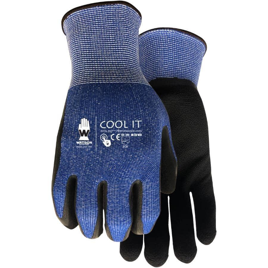 WATSON GLOVES:Ladies Cool It Knit Garden Gloves - with Foam Latex Coated Palms, Medium