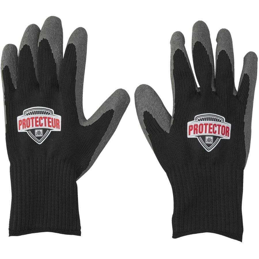 HOME GARDENER:Men's Cotton All-Purpose Garden Gloves - with Rubber Coated Palms, Extra Large