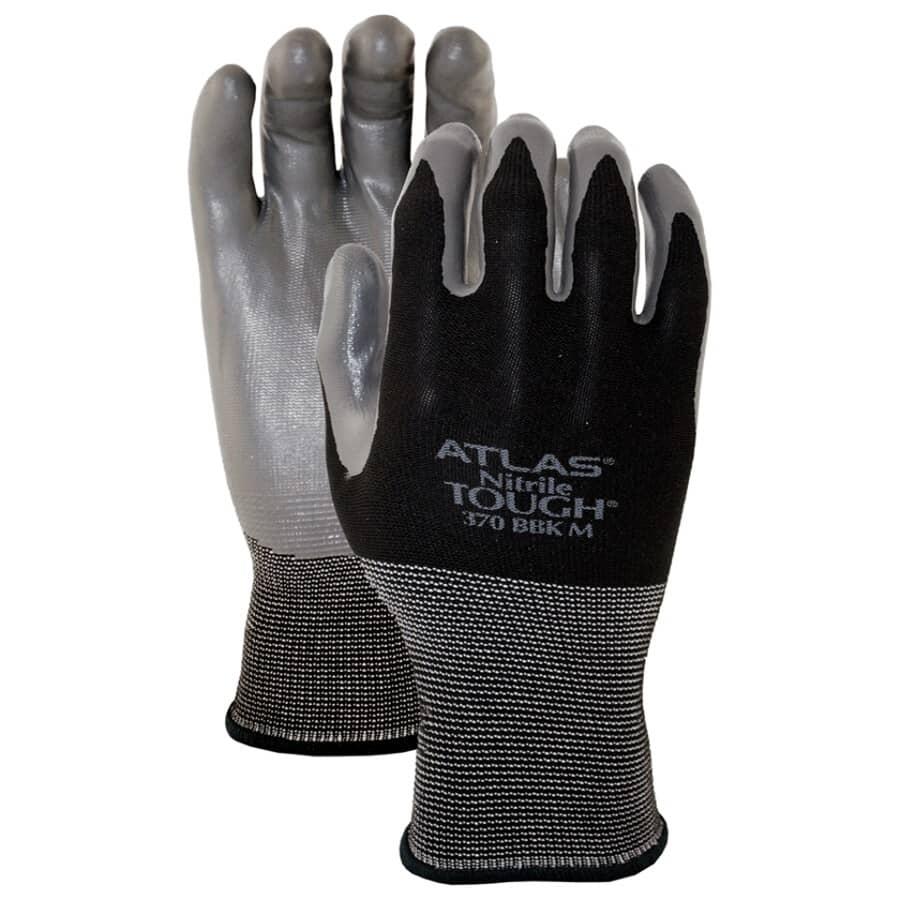 WATSON GLOVES:Men's Atlas Blackhawk Polyester / Nylon Garden Gloves - with Nitrile Coating, Medium