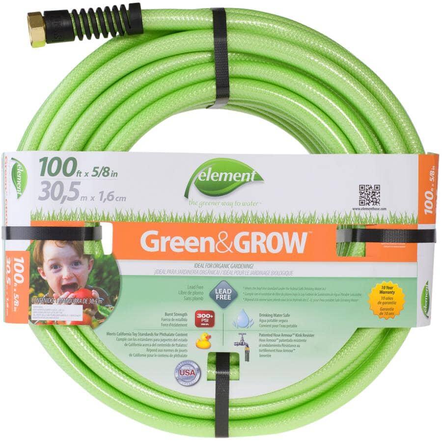 "ELEMENT:5/8"" x 100' Green Grow Eco-Friendly Garden Hose"