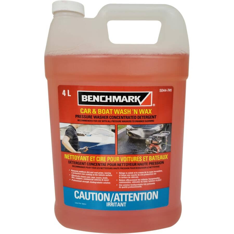 BENCHMARK:Car & Boat Pressure Washer Wash & Wax - 4 L